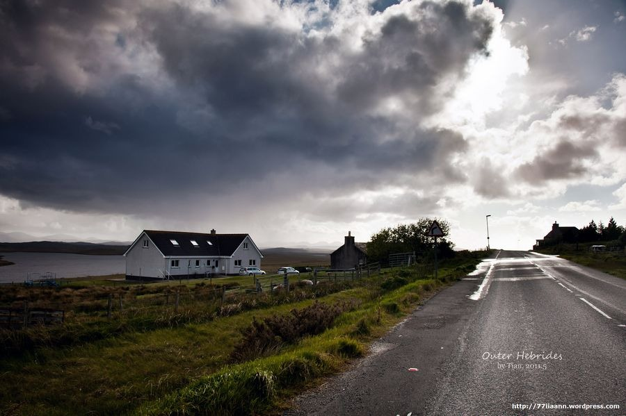 under a vast sky, isle of lewis, outer hebrides